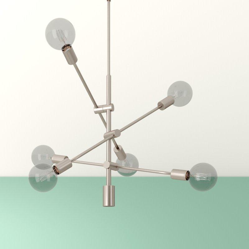 Famous Eladia 6 Light Sputnik Chandelier Intended For Eladia 6 Light Sputnik Chandeliers (Gallery 2 of 30)