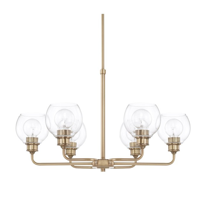 Famous Evan 6 Light Shaded Chandelier Pertaining To Sherri 6 Light Chandeliers (View 7 of 30)