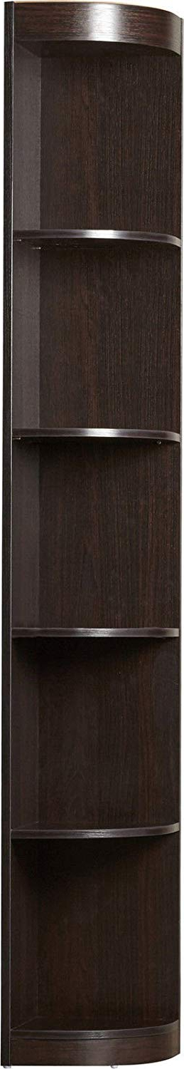 "Famous Fuhrmann Corner Bookcases In Amazon: Red Barrel Studio 77""h Fuhrmann Brown Wood (View 12 of 20)"