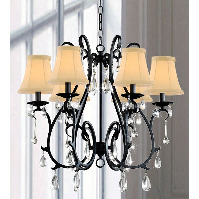 Famous Gaines 5 Light Shaded Chandeliers With This Iron And Crystal Chandelier Will Wow A Room With Its (View 27 of 30)