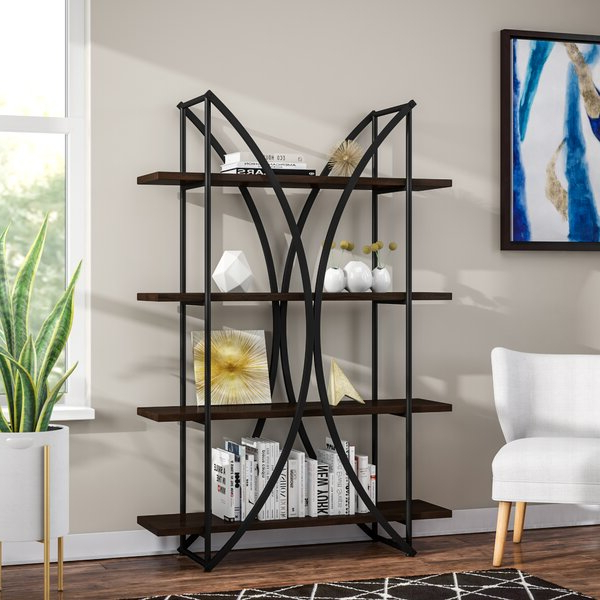 Famous Geissler 4 Shelf Etagere Bookcasebrayden Studio Throughout Annabesook Etagere Bookcases (View 10 of 20)