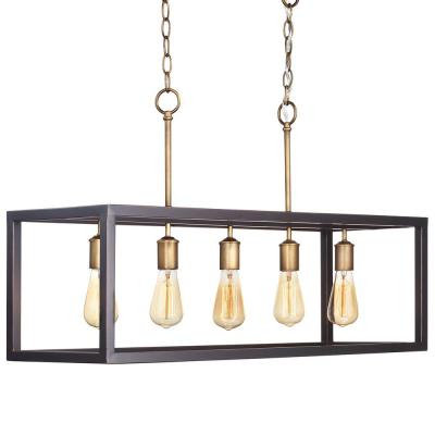 Famous Kenna 5 Light Empire Chandeliers With Regard To Farmhouse – Chandeliers – Lighting – The Home Depot (Gallery 21 of 30)