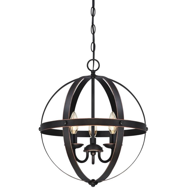 Famous La Barge 3 Light Globe Chandelier Regarding Verlene Foyer 5 Light Globe Chandeliers (Gallery 7 of 30)