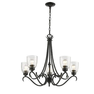 Famous Laurel Foundry Modern Farmhouse Sheila 5 Light Shaded Inside Diaz 6 Light Candle Style Chandeliers (Gallery 22 of 30)