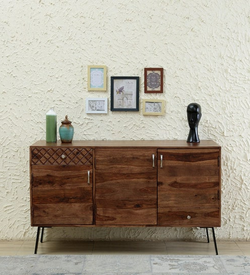 Famous Remington Sideboards Intended For Remington Solid Wood Storage Cabinet In Rustic Teak Finishwoodsworth (View 5 of 20)