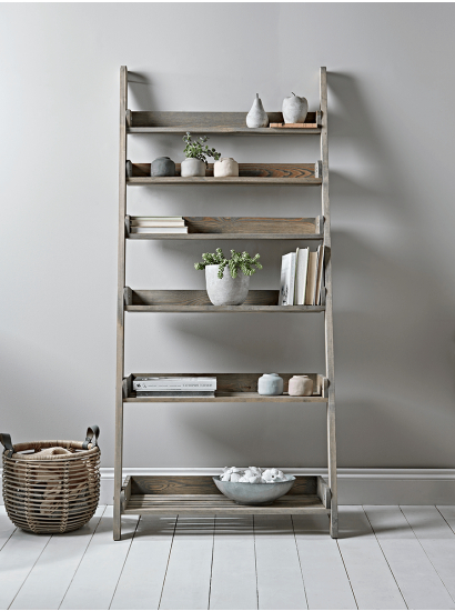 Famous Rustic Wooden Ladder Shelf – Wide With Wide Ladder Bookcases (View 5 of 20)
