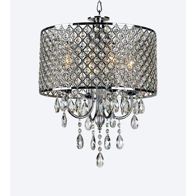 Famous Sinead 4 Light Chandeliers With Regard To Aurore 4 Light Crystal Chandelier (View 8 of 30)