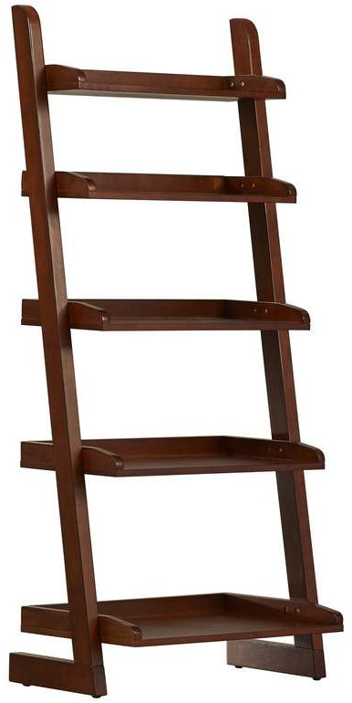 Famous Three Posts Silvestri Ladder Bookcase In (View 5 of 20)