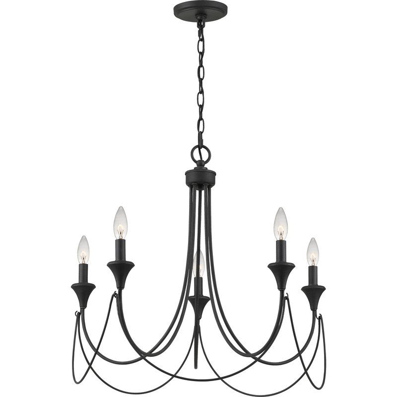 Famous Walczak 5 Light Candle Style Chandelier In (View 25 of 30)