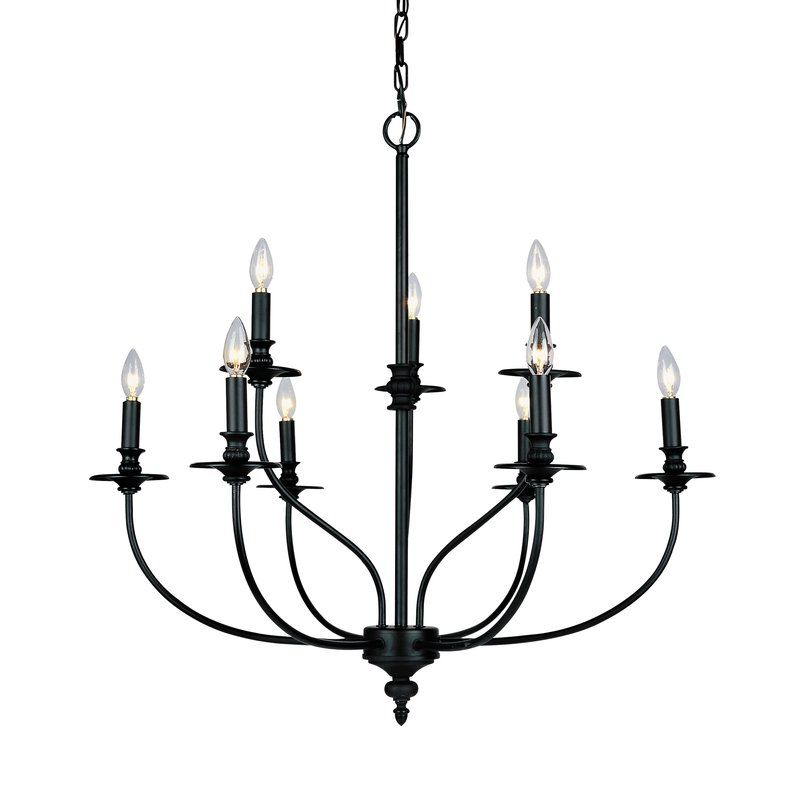 Farmhouse Throughout Giverny 9 Light Candle Style Chandeliers (Gallery 3 of 30)
