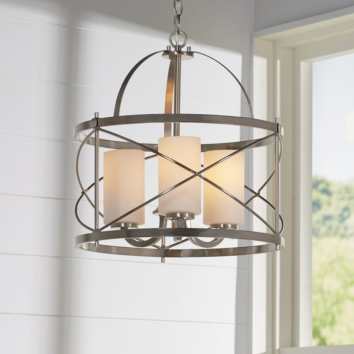 Farrier 3 Light Lantern Drum Pendant Regarding Well Known Tessie 3 Light Lantern Cylinder Pendants (View 6 of 30)