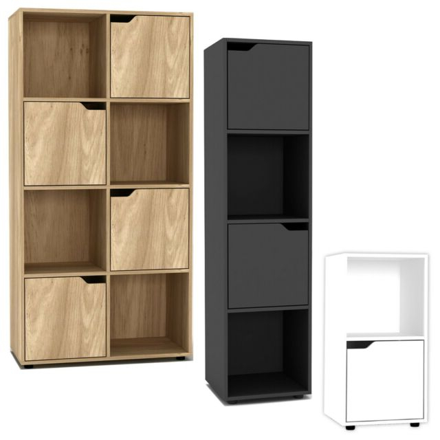 Fashionable 2, 4, 8 Cube Bookcase Shelving Display Shelf Storage Living Room Wooden Door New With Regard To Lancashire Cube Bookcases (View 19 of 20)