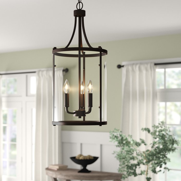 Fashionable 3 Light Lantern Cylinder Pendants Pertaining To 3 Light Lantern Cylinder Pendant (View 14 of 30)