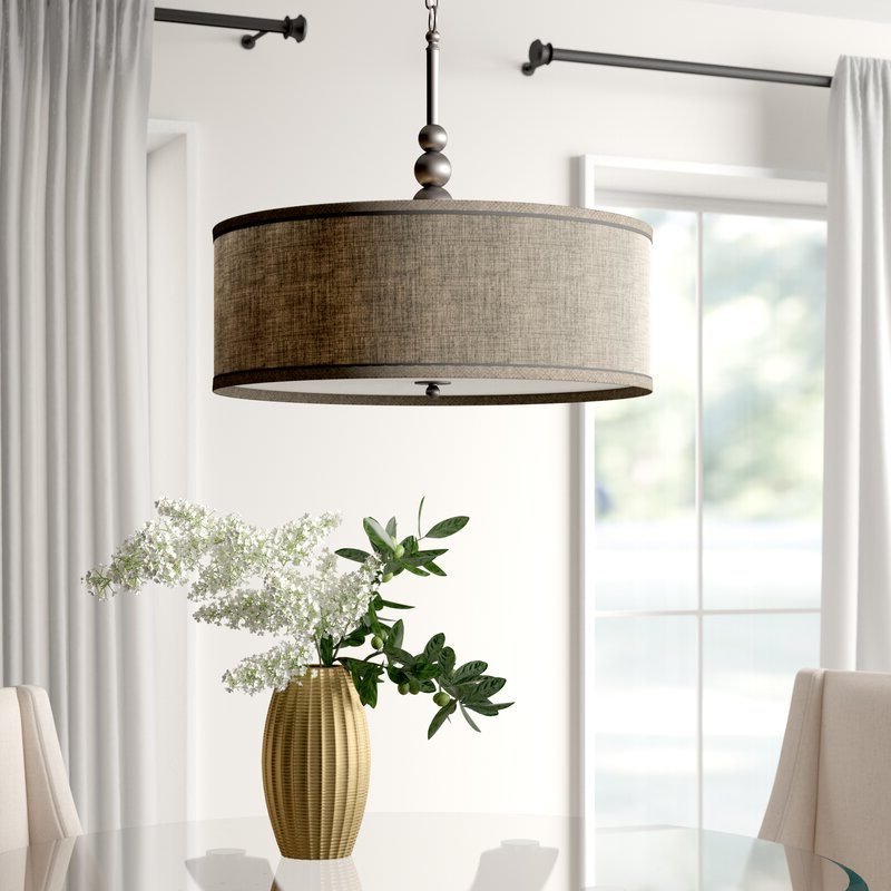 Fashionable Annuziata 3 Light Led Pendant Intended For Montes 3 Light Drum Chandeliers (Gallery 21 of 30)