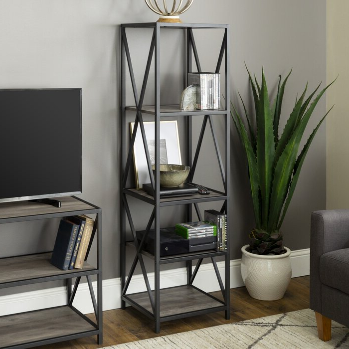 Fashionable Augustus Etagere Bookcase With Augustus Etagere Bookcases (Gallery 8 of 20)