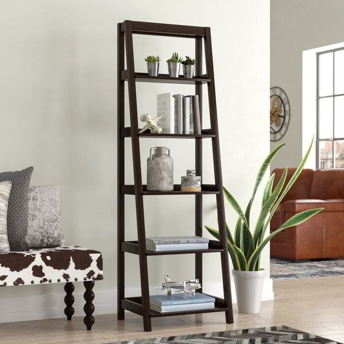 Fashionable Averett Ladder Bookcases For Adelle Ladder Bookcase (View 11 of 20)
