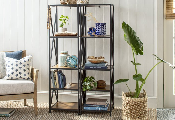 Fashionable Bowman Etagere Bookcases Regarding Augustus Etagere Bookcase (View 11 of 20)