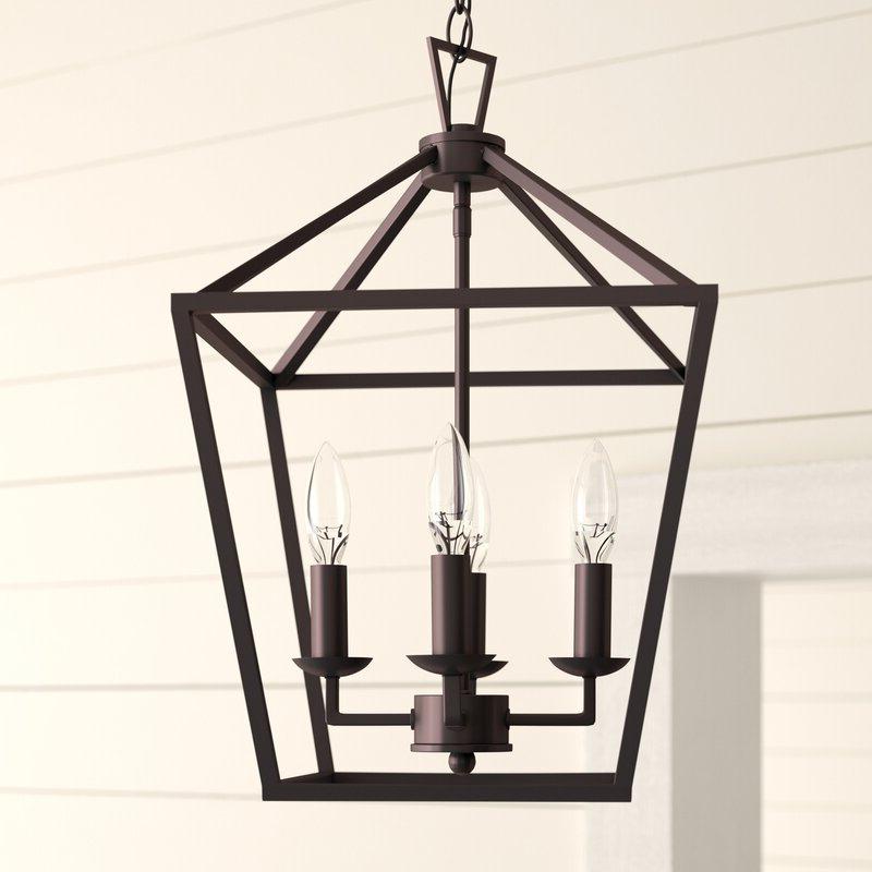 Fashionable Carmen 8 Light Lantern Tiered Pendants For Carmen 4 Light Lantern Geometric Pendant (View 16 of 30)