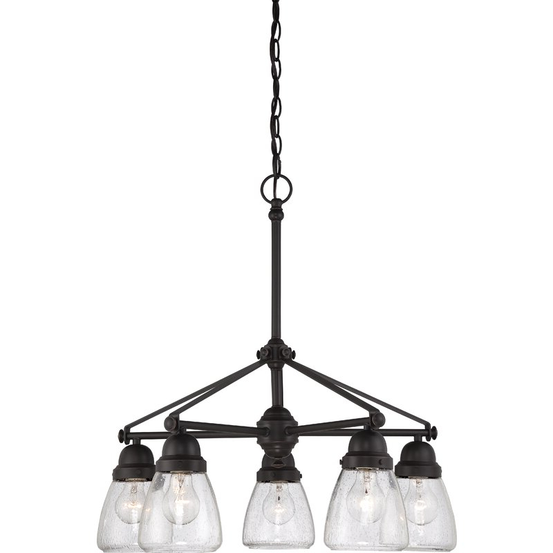Fashionable Cavanagh 4 Light Geometric Chandeliers With Regard To Hansen 5 Light Shaded Chandelier (Gallery 16 of 30)
