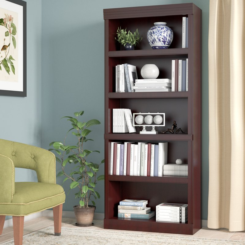 Fashionable Clintonville Standard Bookcase Intended For Decorative Standard Bookcases (Gallery 7 of 20)