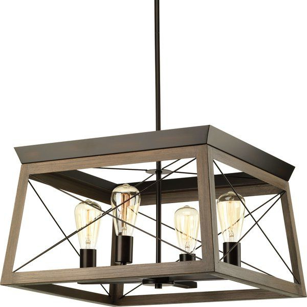 Fashionable Delon 4 Light Square/rectangle Chandelier (View 16 of 30)