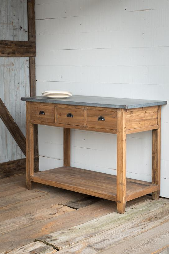Fashionable Dormer Sideboards Intended For Zinc Top Farmhouse Workstation (View 16 of 20)