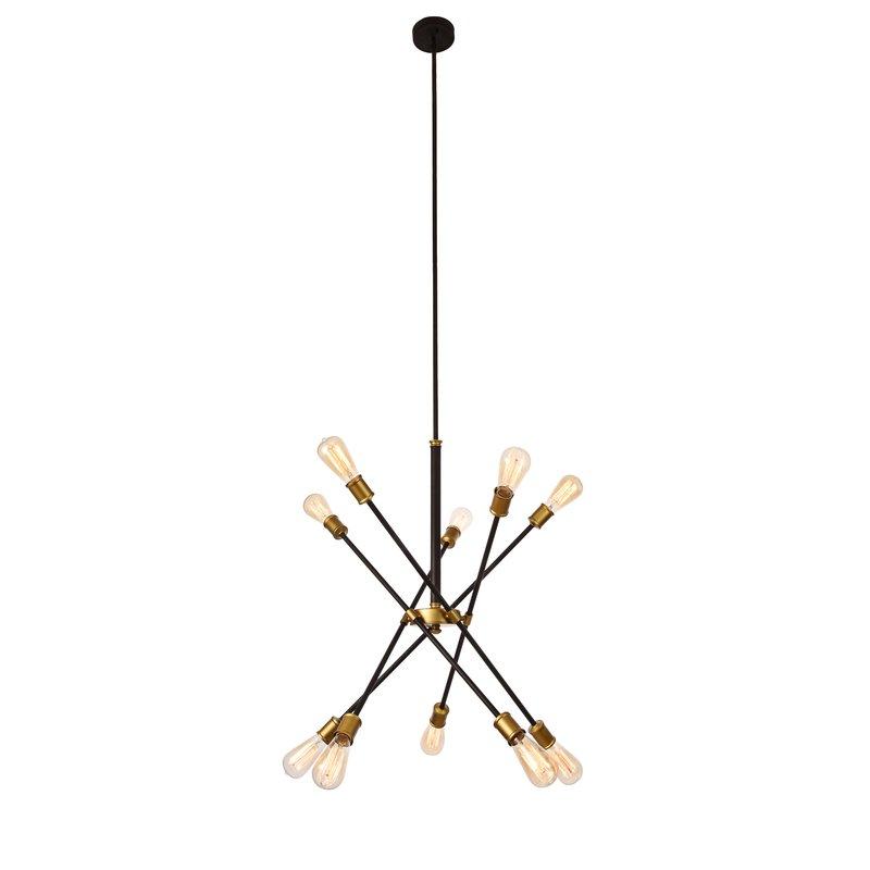 Fashionable Everett 10 Light Sputnik Chandeliers With Regard To Everett 10 Light Sputnik Chandelier (Gallery 1 of 30)