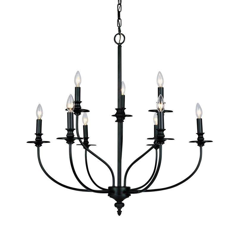 Fashionable Giverny 9 Light Candle Style Chandelier Pertaining To Kenedy 9 Light Candle Style Chandeliers (View 16 of 30)
