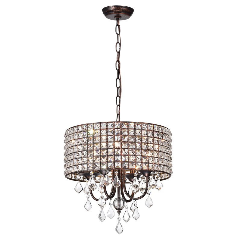 Fashionable Lavada 4 Light Drum Chandelier With Regard To Gisselle 4 Light Drum Chandeliers (View 6 of 30)