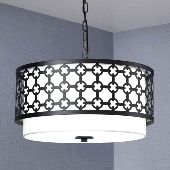 Fashionable Lindsey 4 Light Drum Chandeliers In Drum Light Chandelier Design 4 Reviews Shade – Jiboqaxapu (View 10 of 30)