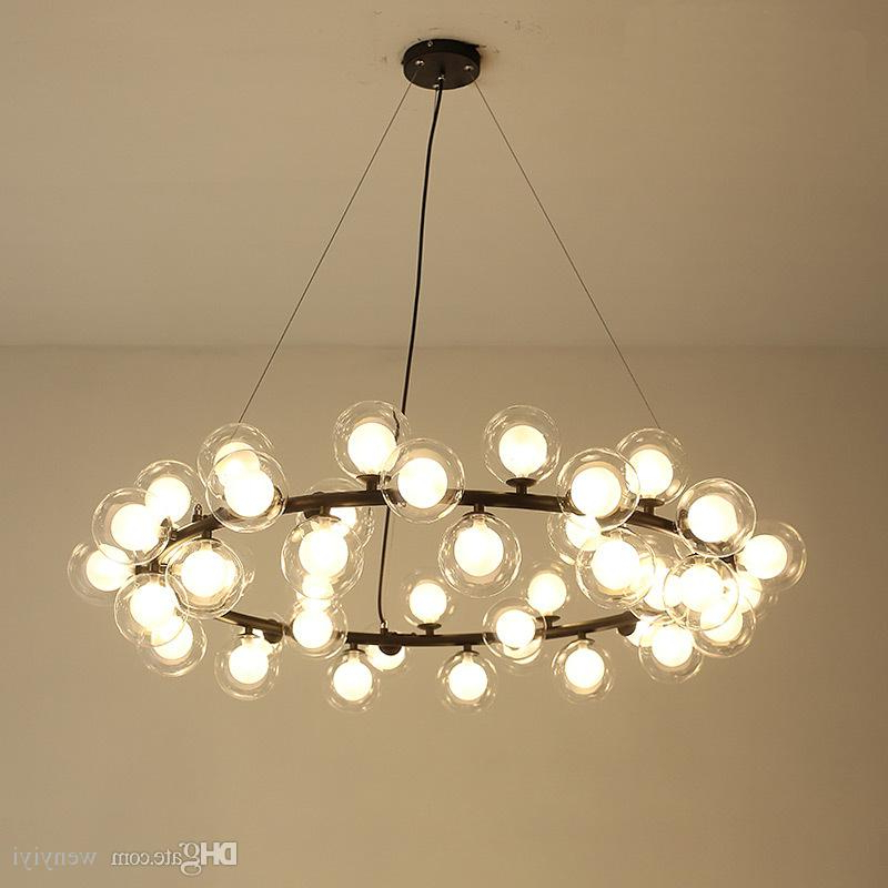 Fashionable Magic Bean Modern Led Pendant Chandelier Lights For Living Room Dining Room  G4 Gold /black White Glass Chandelier Lamp Fixtures With Regard To Lindsey 4 Light Drum Chandeliers (Gallery 26 of 30)