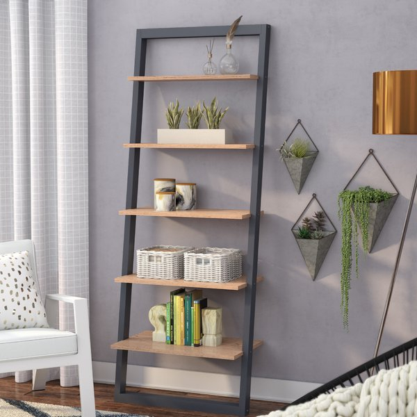 Fashionable Modern & Contemporary Easmor Ladder Bookcase (View 5 of 20)