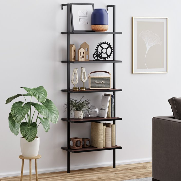 Fashionable Moskowitz Ladder Bookcase Throughout Moskowitz Ladder Bookcases (Gallery 3 of 20)