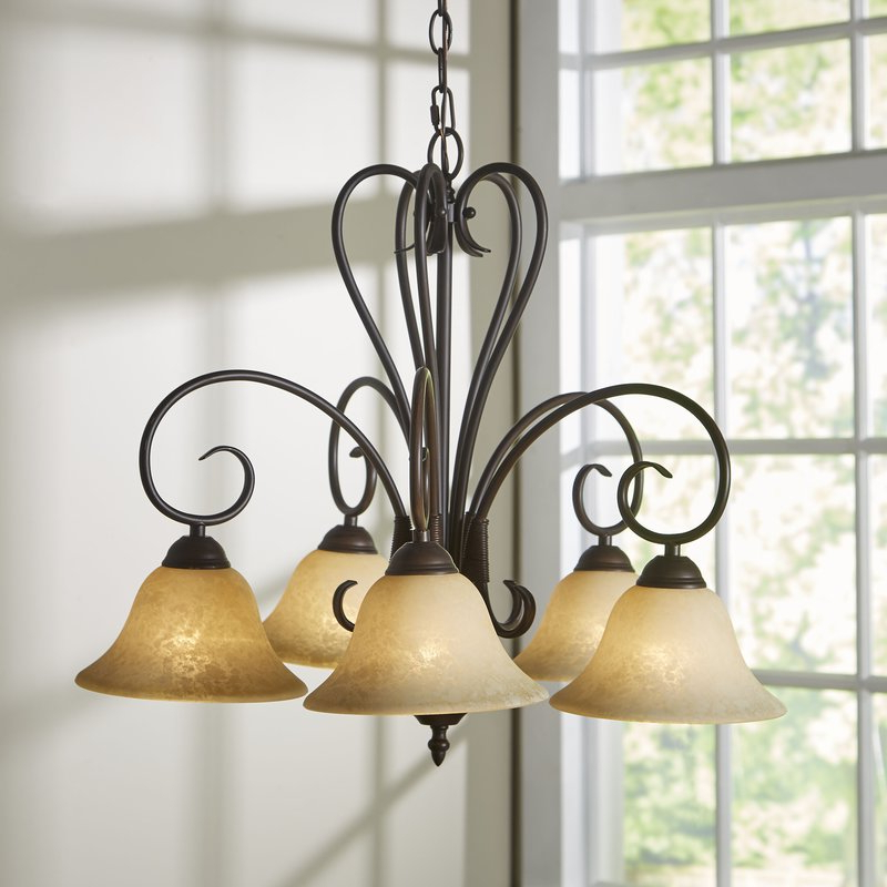 Fashionable Newent 5 Light Shaded Chandeliers Intended For Gaines 5 Light Shaded Chandelier (Gallery 25 of 30)