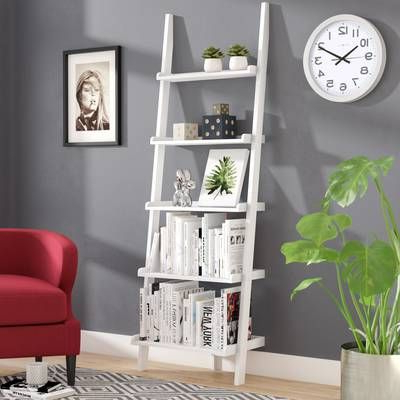 Fashionable Ricardo Ladder Bookcase In  (View 2 of 20)