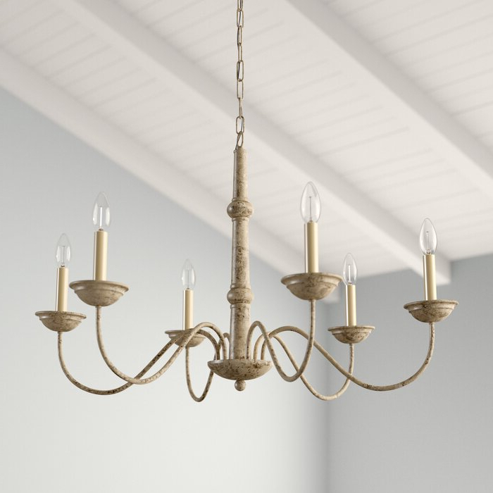 Fashionable Seneca 6 Light Candle Style Chandelier With Regard To Shaylee 6 Light Candle Style Chandeliers (View 16 of 30)