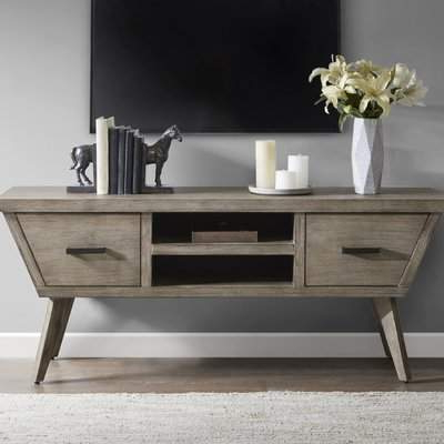"Fashionable Serafino Media Credenzas Inside George Oliver Kermit Media Credenza Tv Stand For Tvs Up To 64"" George Oliver (View 18 of 20)"