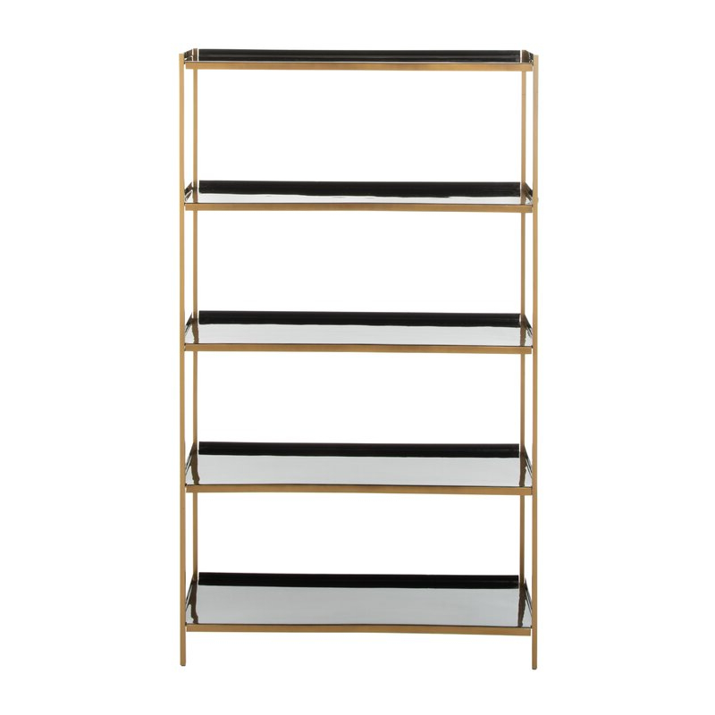 Fashionable Silsbee 5 Tier Etagere Bookcase Inside Caitlyn Etagere Bookcases (View 12 of 20)