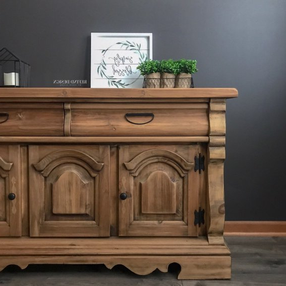 Fashionable Sold! Modern Farmhouse Buffet, Wood Sideboard, Rustic For Ilyan Traditional Wood Sideboards (View 17 of 20)