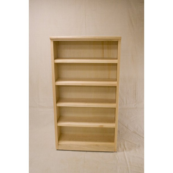 Fashionable Standard Bookcases Throughout Cuomo 3 Shelf Urban Maple Standard Bookcasedarby Home Co (Gallery 15 of 20)