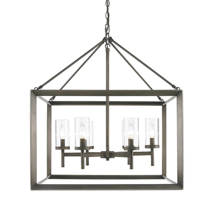 Fashionable Thorne 6 Light Lantern Square / Rectangle Pendants In Thorne 6 Light Lantern Square / Rectangle Pendant (Gallery 15 of 30)
