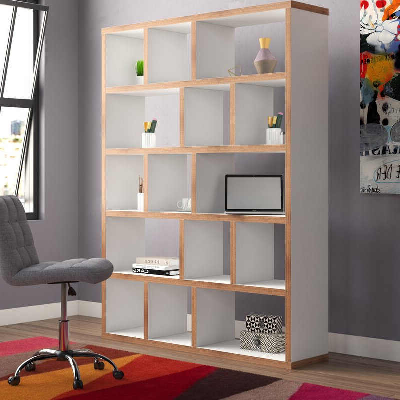 Fashionable Varga 5 Level Geometric Bookcases With Varga 5 Level Geometric Bookcase (Gallery 3 of 20)