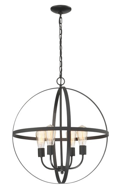 Fashionable Washtenaw 4 Light Chandelier Regarding Verlene Foyer 5 Light Globe Chandeliers (Gallery 24 of 30)