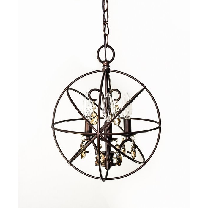 Favorite Alden 3 Light Single Globe Pendant In Alden 3 Light Single Globe Pendants (Gallery 2 of 30)