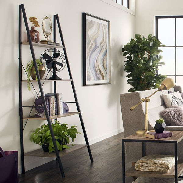 "Favorite Almanzar Ladder Bookcases Within Add This Ladder 71"" Leaning Bookcase From Closetmaid To Your (View 15 of 20)"