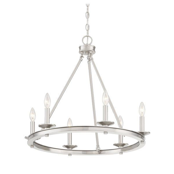 Favorite Aramis 6 Light Wagon Wheel Chandelier (Gallery 20 of 30)