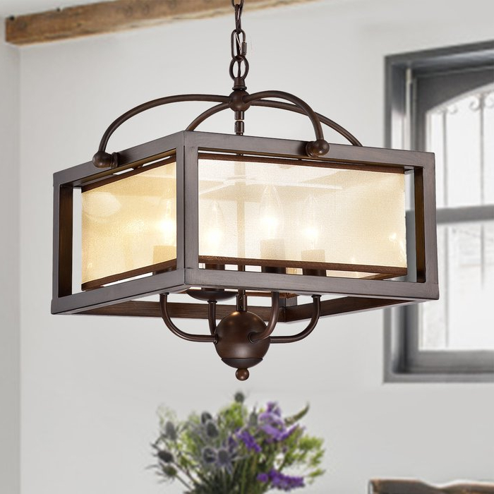 Favorite Cambra 4 Light Square/rectangle Chandelier Regarding Ellenton 4 Light Rectangle Chandeliers (View 11 of 30)