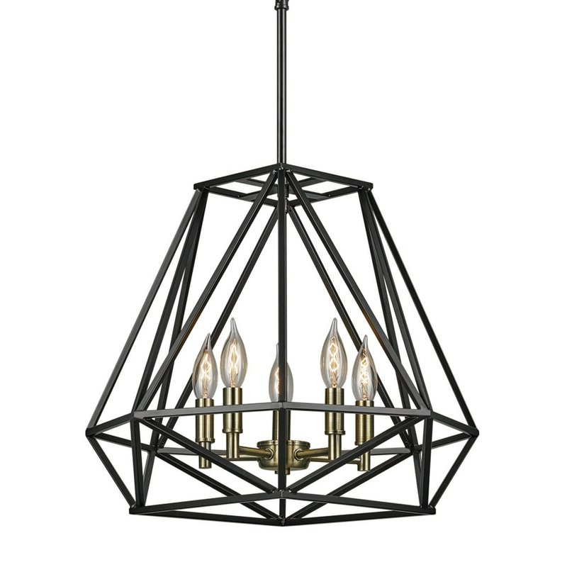 Favorite Cavanagh 4 Light Geometric Chandeliers Regarding Tabit 5 Light Geometric Chandelier (Gallery 13 of 30)