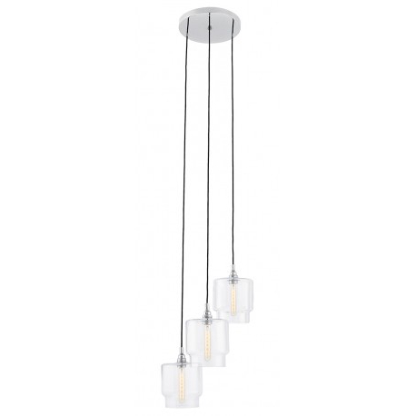 Favorite Clea 3 Light Crystal Chandeliers With Clea 3 Plafond Pendant Lamp Transparent – Kolorowekable.pl (Gallery 16 of 30)