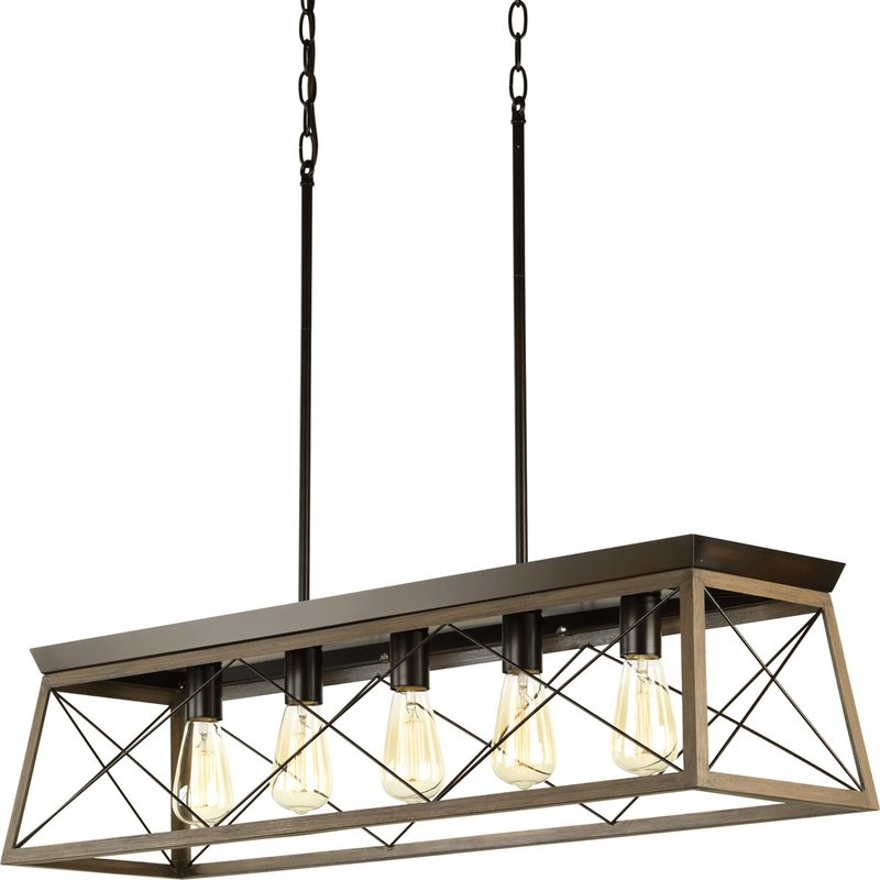 Favorite Delon 4 Light Square Chandeliers With Delon 5 Light Kitchen Island Linear Pendant (View 17 of 30)